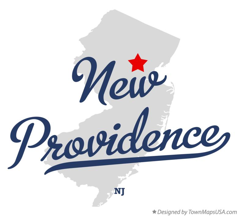 Map of New Providence New Jersey NJ