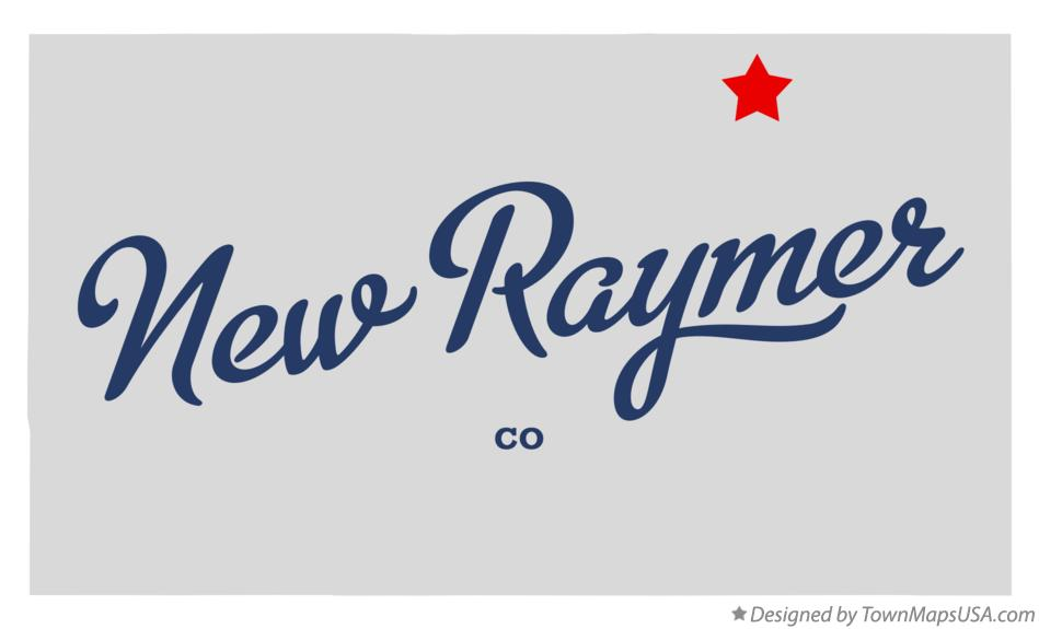 Map of New Raymer Colorado CO