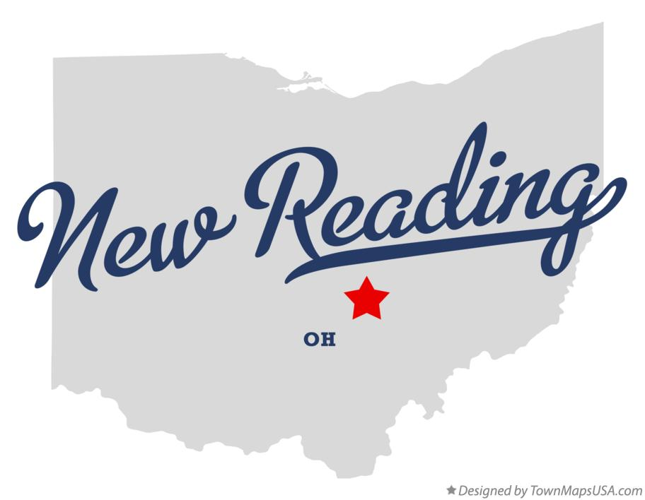 Map of New Reading Ohio OH
