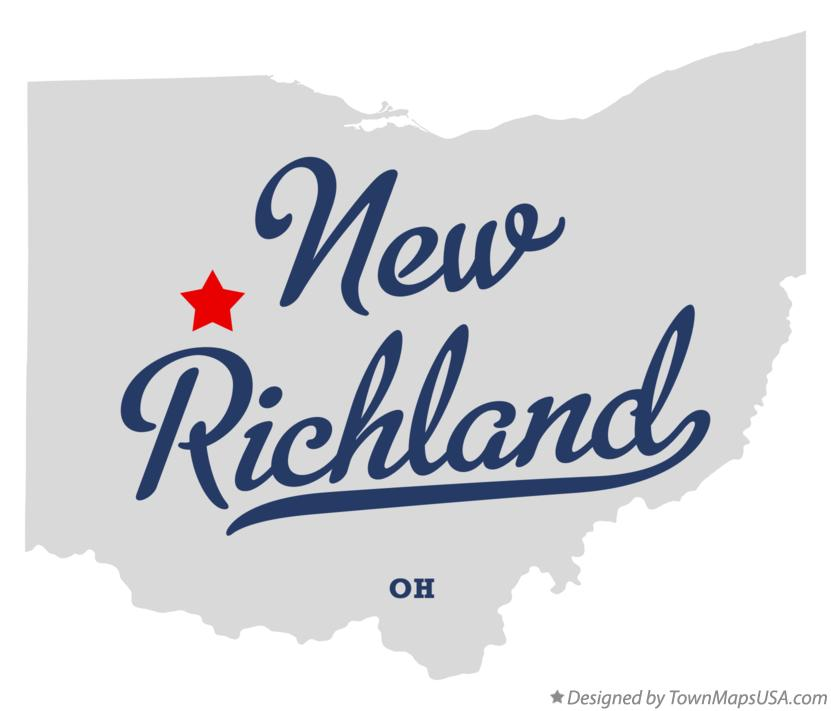 Map of New Richland Ohio OH