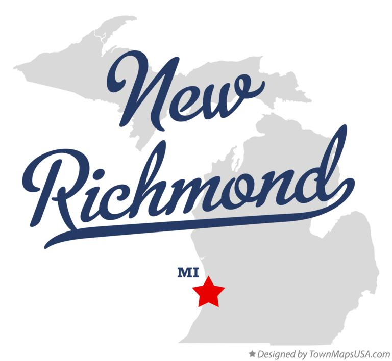 Map of New Richmond Michigan MI