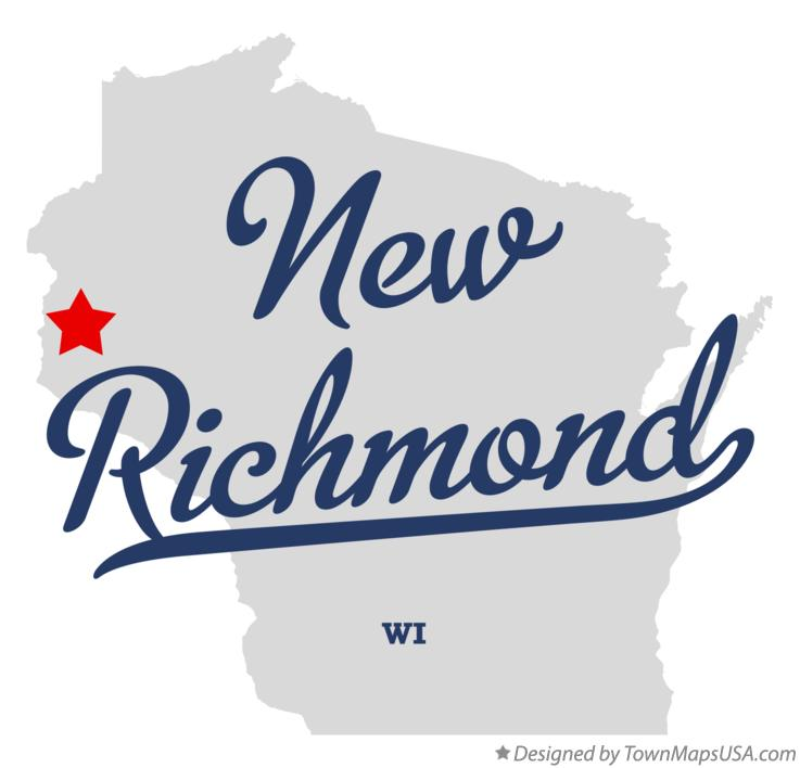 Map of New Richmond Wisconsin WI