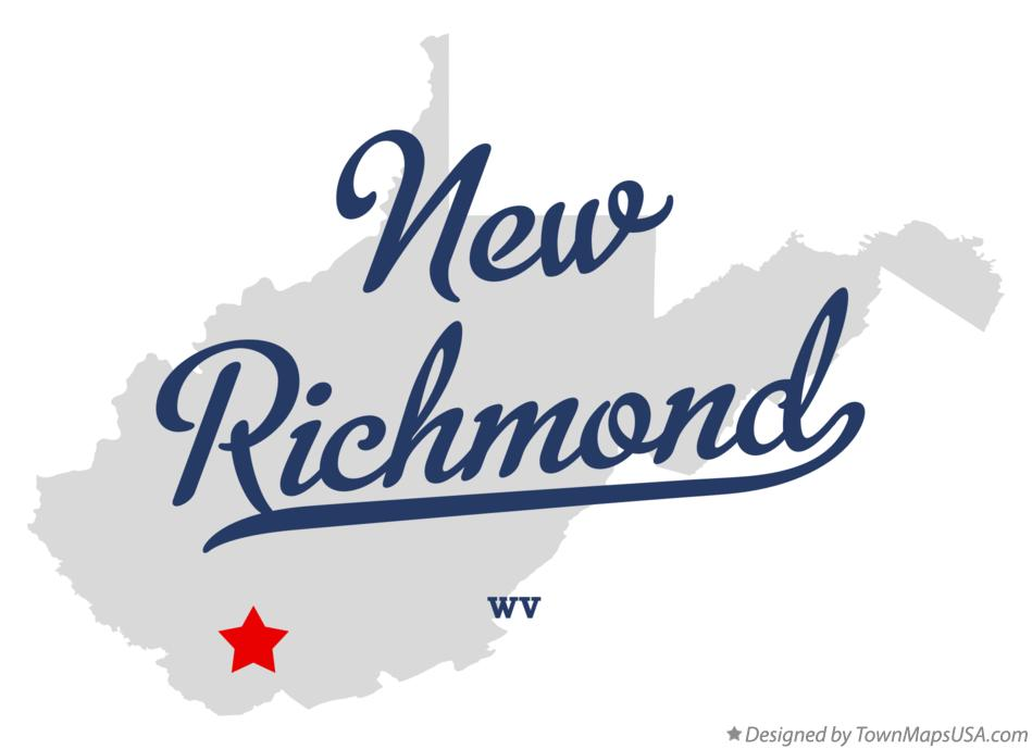 Map of New Richmond West Virginia WV