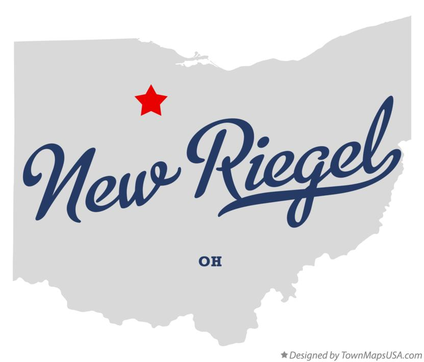 Map of New Riegel Ohio OH