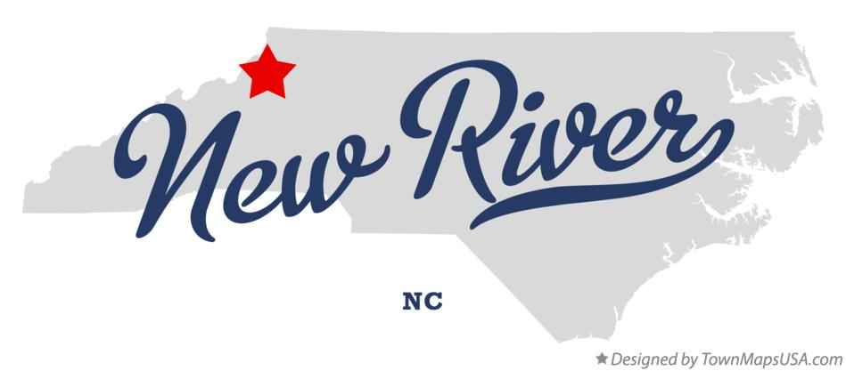 Map of New River North Carolina NC