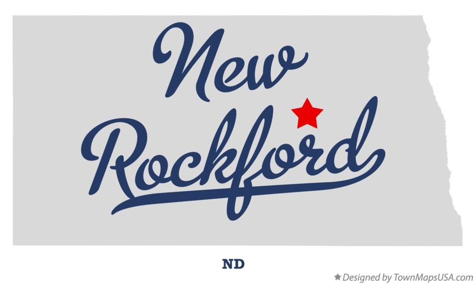 Map of New Rockford North Dakota ND