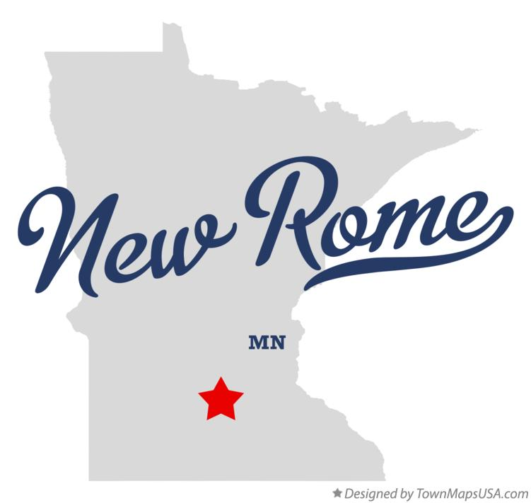 Map of New Rome Minnesota MN