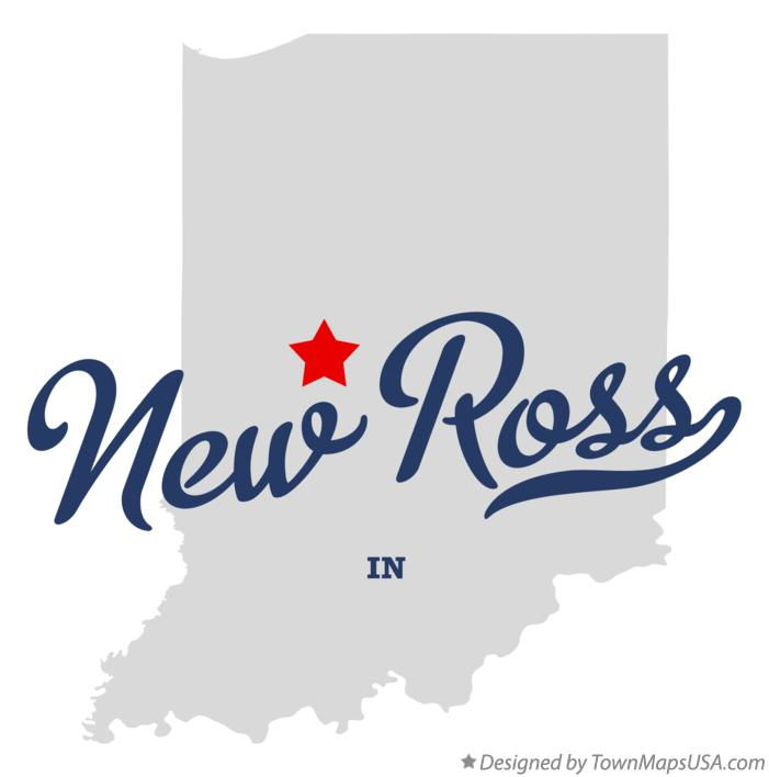 Map of New Ross Indiana IN