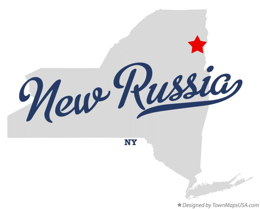 Map of New Russia New York NY