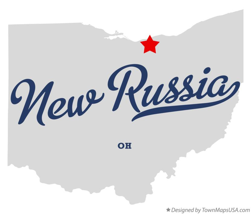 Map of New Russia Ohio OH