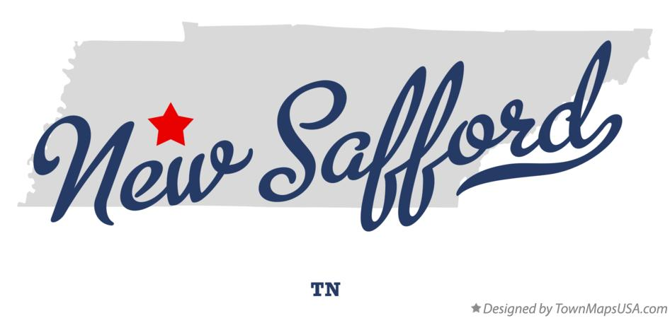 Map of New Safford Tennessee TN