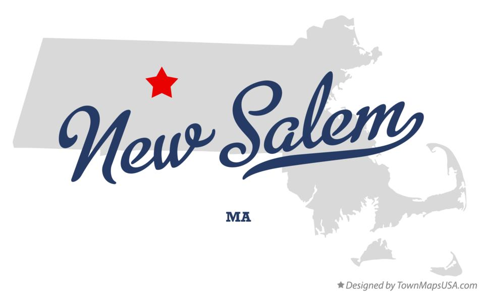 Map of New Salem Massachusetts MA