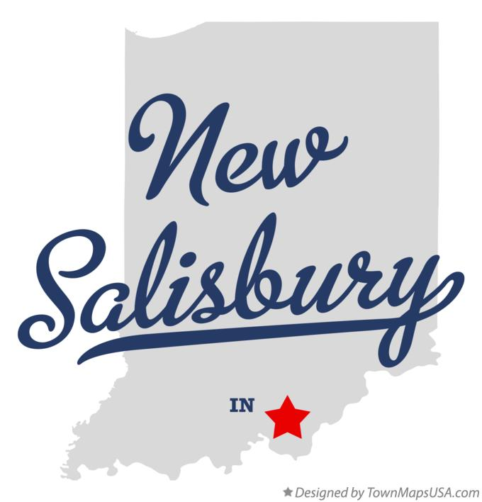 Map of New Salisbury Indiana IN