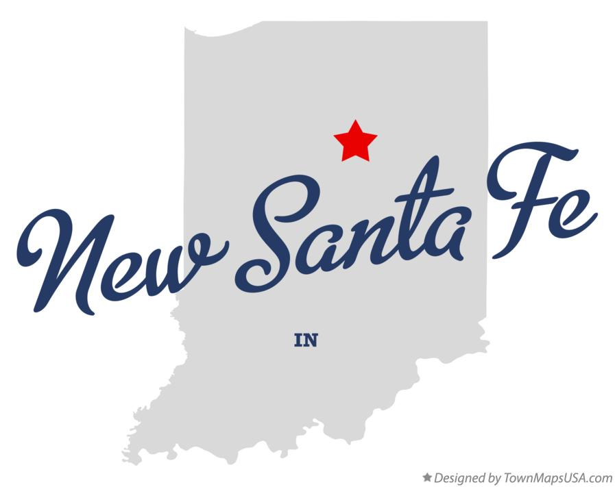 Map of New Santa Fe Indiana IN
