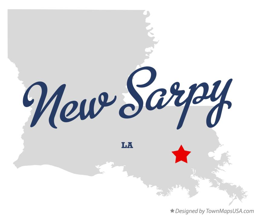 Map of New Sarpy Louisiana LA