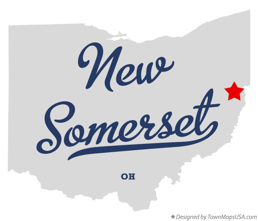 Map of New Somerset Ohio OH