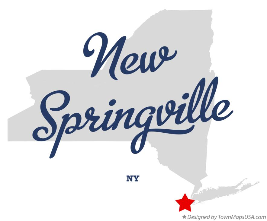 Map of New Springville New York NY