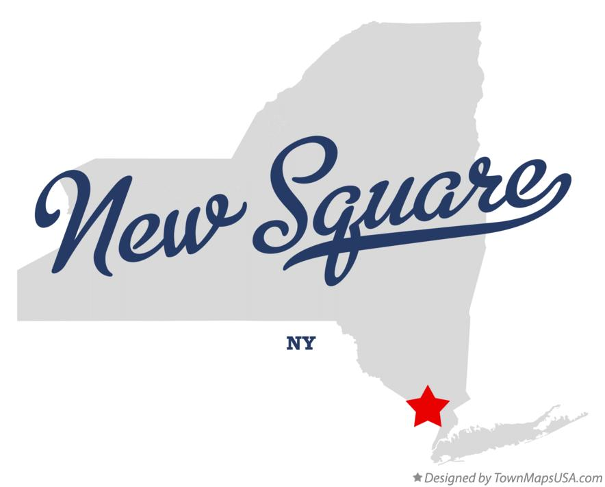 Map of New Square New York NY