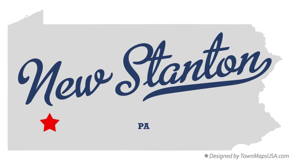 New Stanton (PA) United States  City new picture : Map of New Stanton Pennsylvania PA