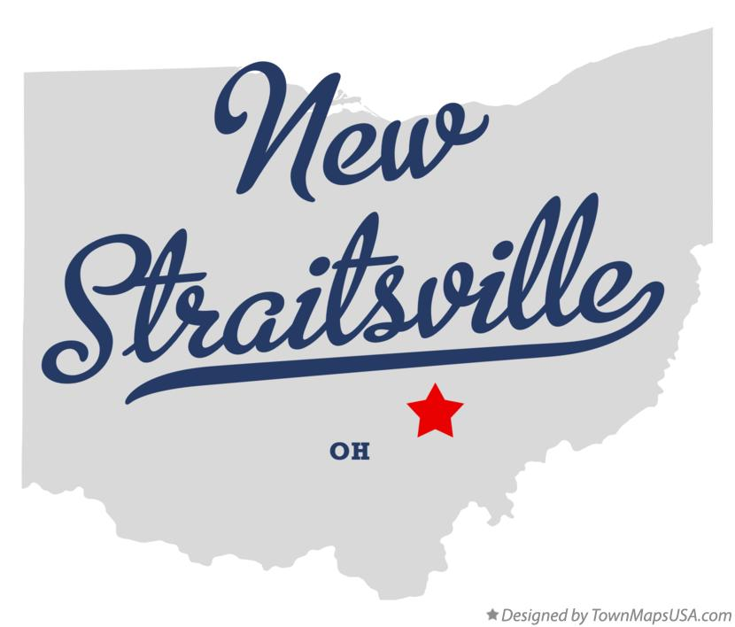 Map of New Straitsville Ohio OH