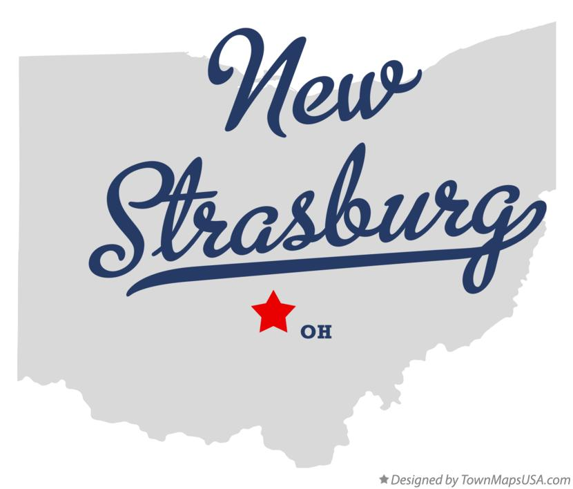 Map of New Strasburg Ohio OH