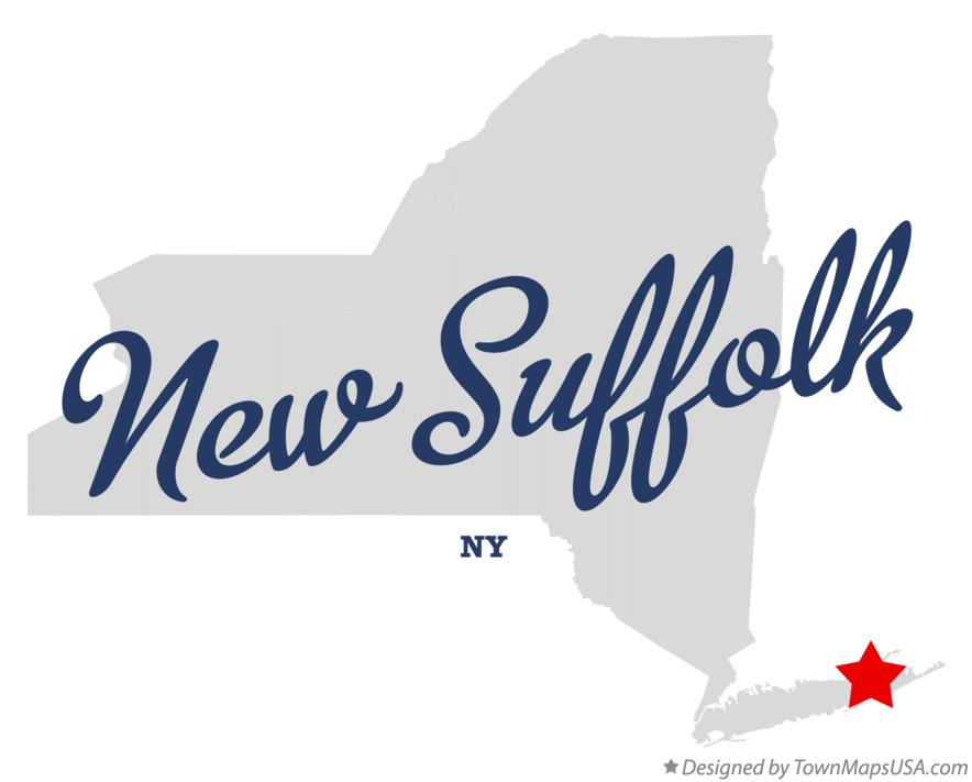 Map of New Suffolk New York NY