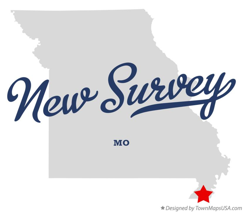 Map of New Survey Missouri MO