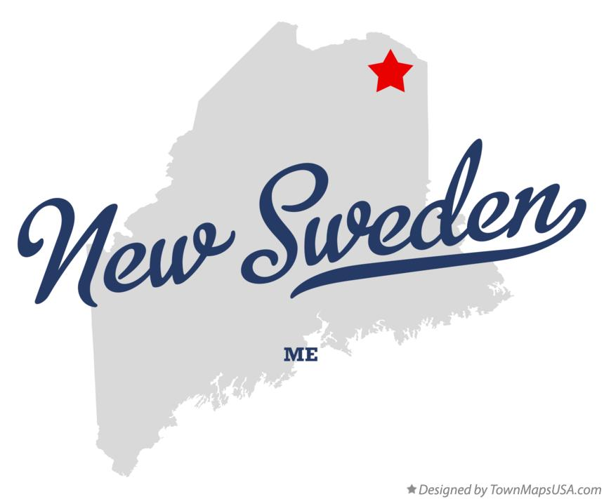 Map Of New Sweden ME Maine - Sweden maine map