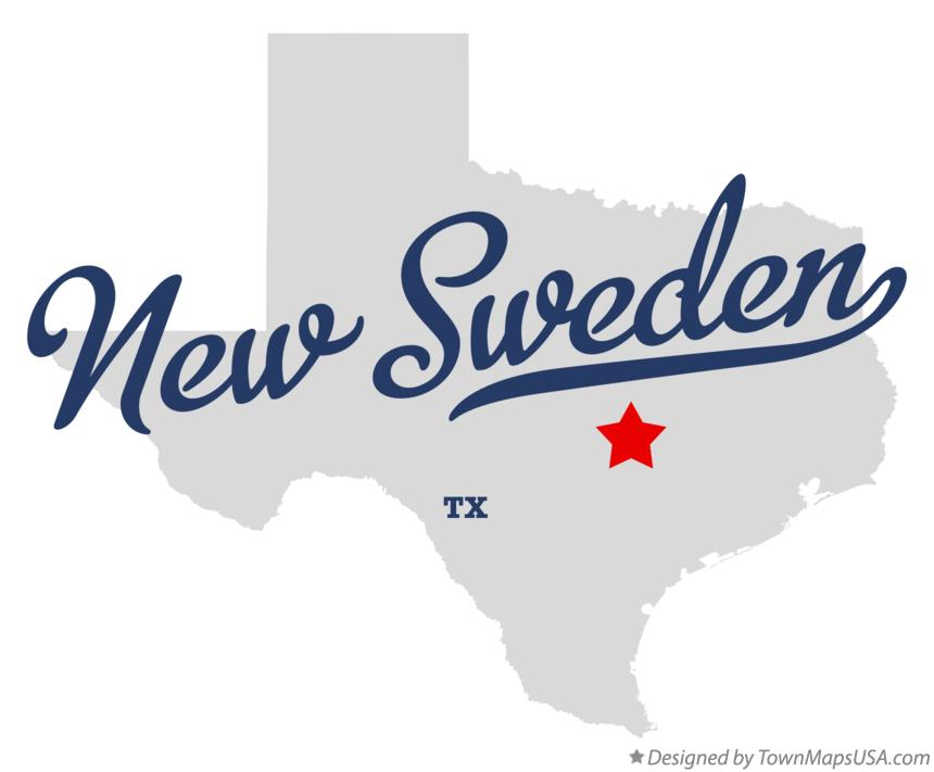 Map of New Sweden Texas TX