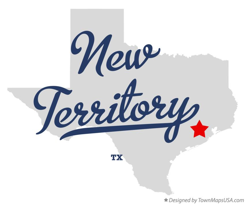 Map of New Territory Texas TX