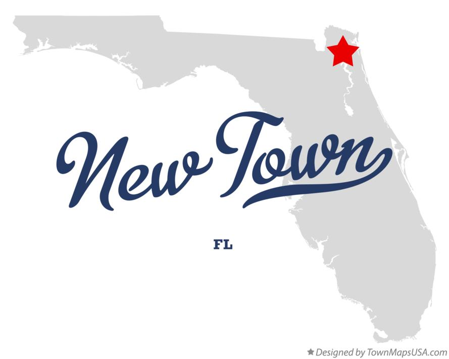 Map of New Town Florida FL