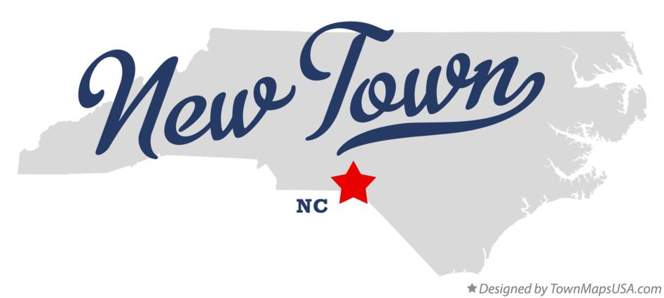 Map of New Town North Carolina NC