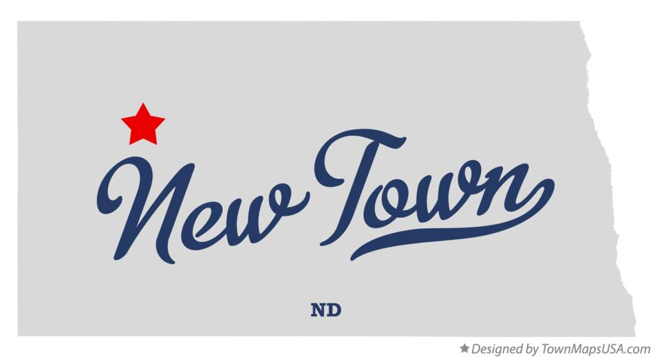 Map of New Town North Dakota ND