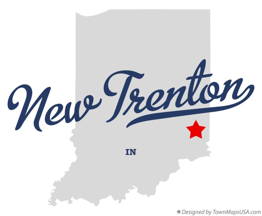 Map of New Trenton Indiana IN