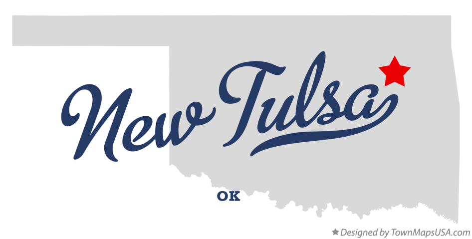Map of New Tulsa Oklahoma OK