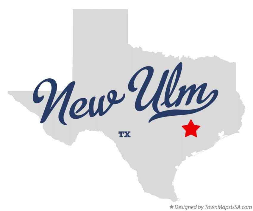 Map of New Ulm Texas TX