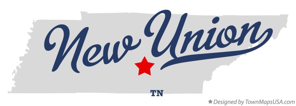 Map of New Union Tennessee TN
