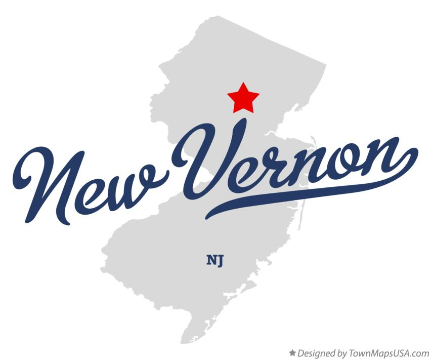 Map of New Vernon New Jersey NJ