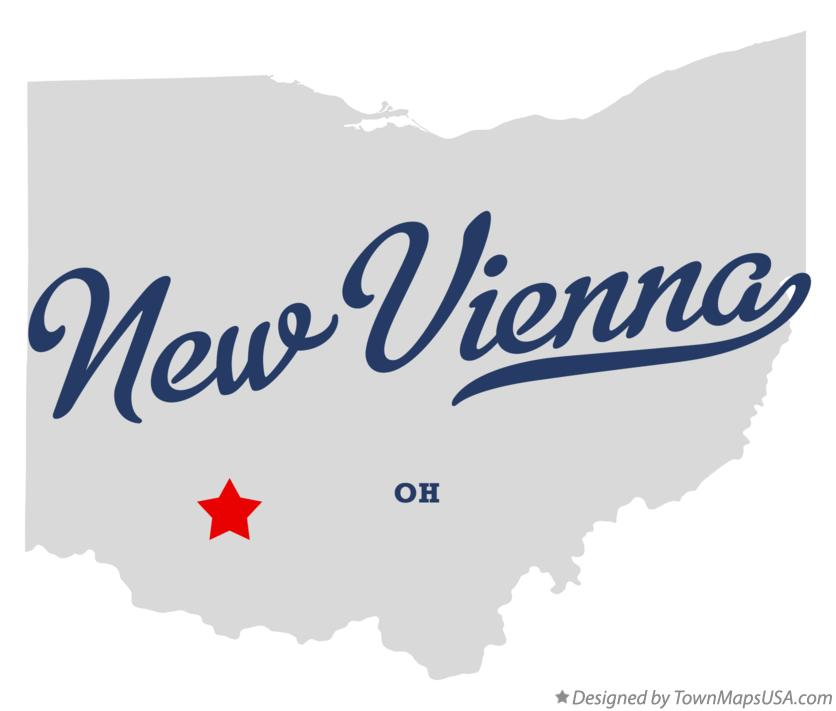 Map of New Vienna Ohio OH
