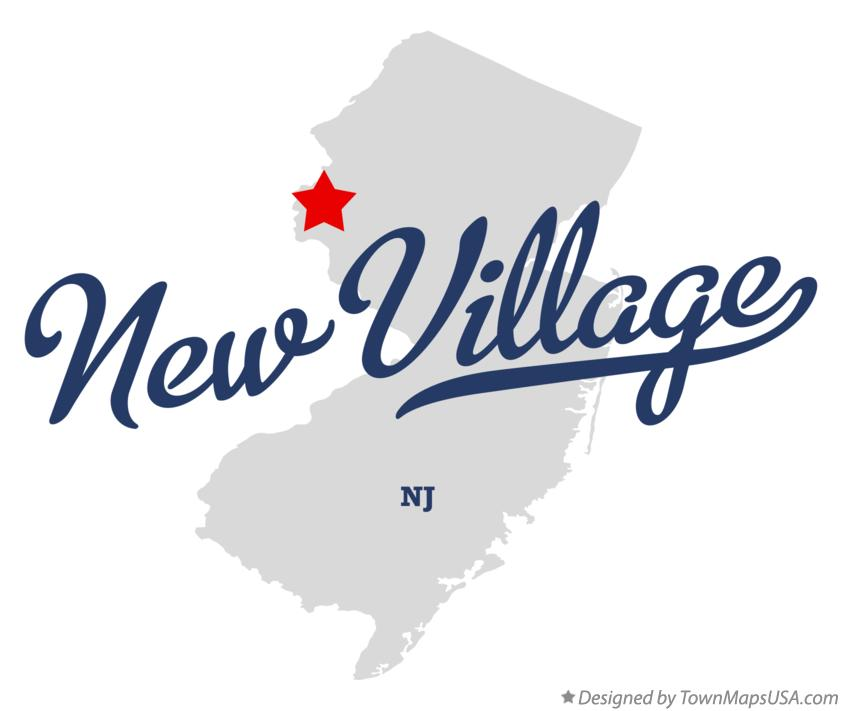 Map of New Village New Jersey NJ
