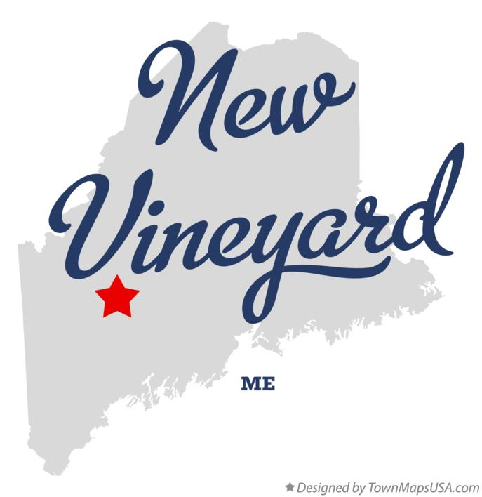 Map of New Vineyard Maine ME