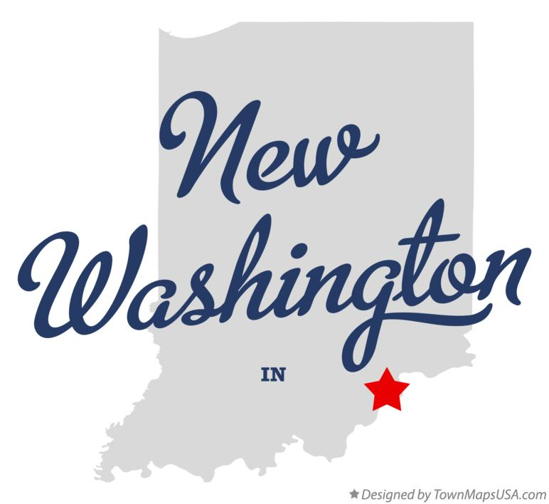 Map of New Washington Indiana IN