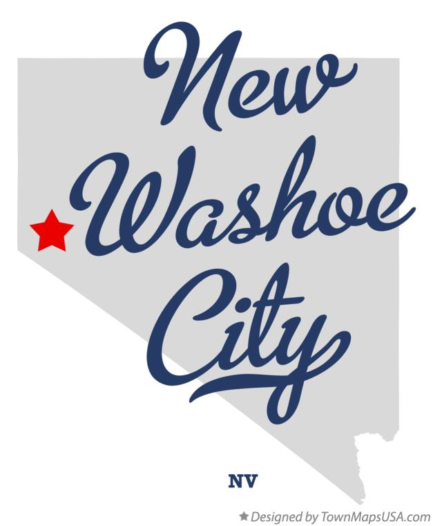 Map of New Washoe City Nevada NV