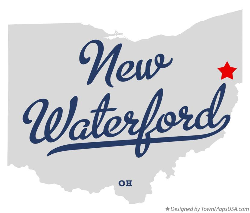 Map of New Waterford Ohio OH