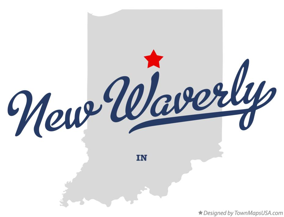 Map of New Waverly Indiana IN