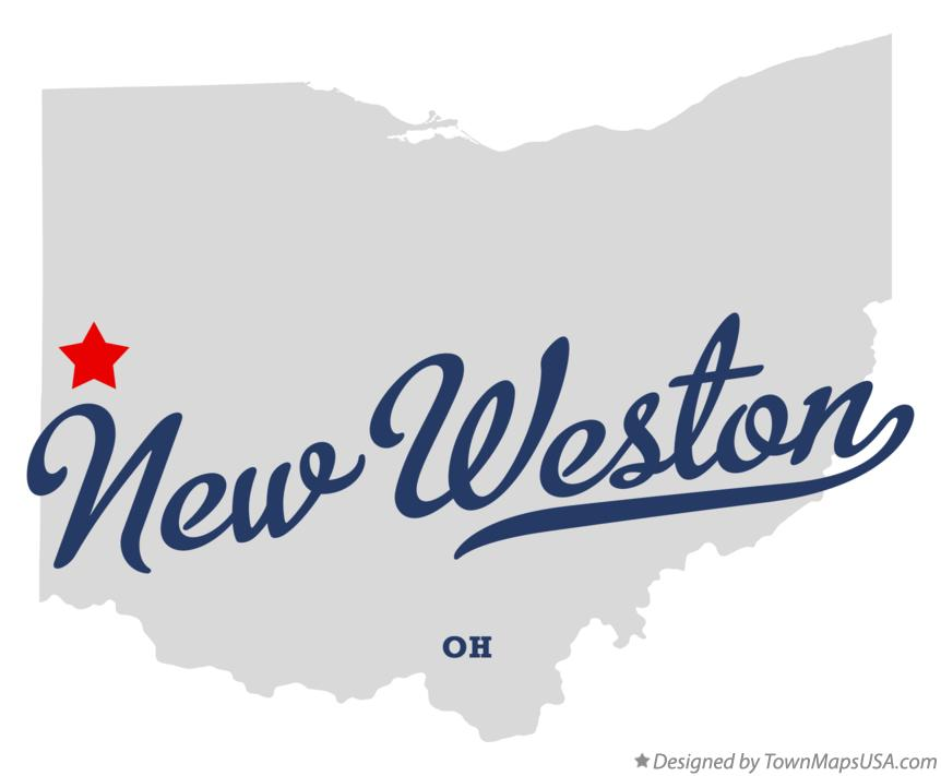 Map of New Weston Ohio OH