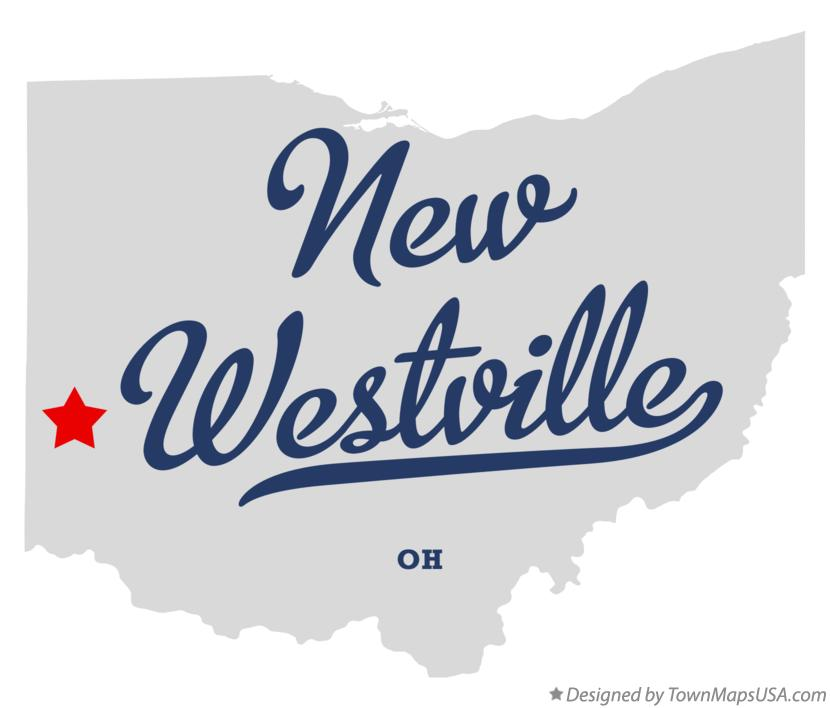Map of New Westville Ohio OH