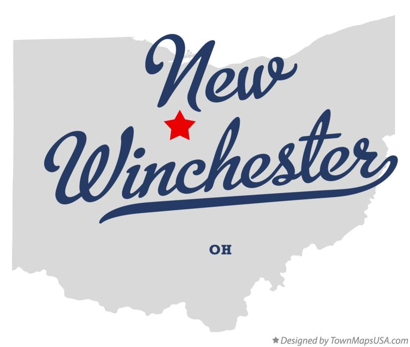 Map of New Winchester Ohio OH