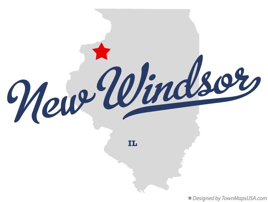 Map of New Windsor Illinois IL