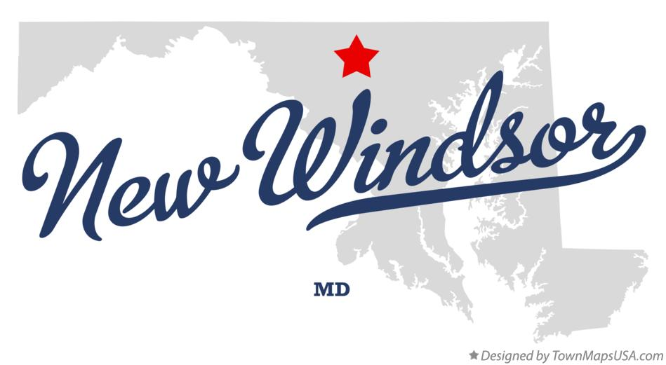 Map of New Windsor Maryland MD